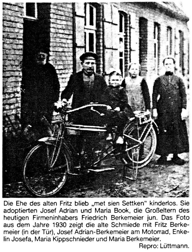 Opel Berkemeier-Münster,Saerbeck,Greven-Bild Historie Familie Berkemeier